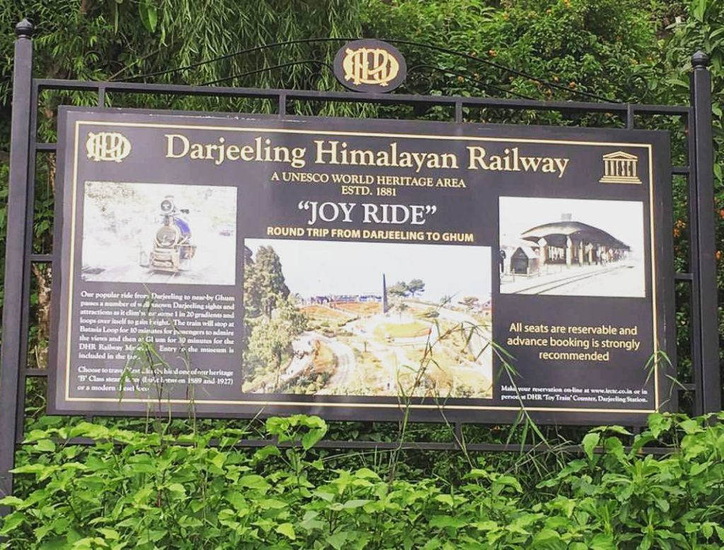 "Darjeeling Himalayan Railway ""JOY RIDE"""