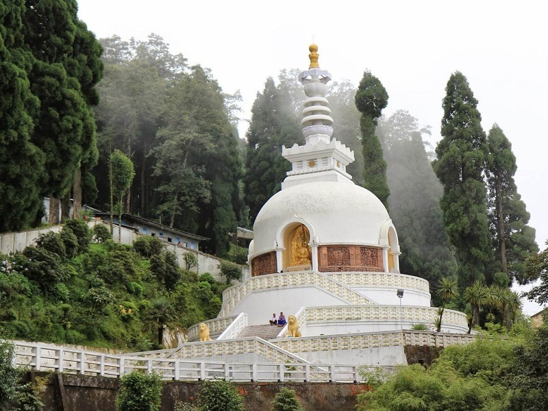 Peace Pagoda and Japanese Temple, Darjeeling